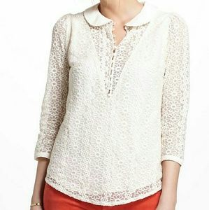 Anthropologie Madchen Lace Overlay Blouse